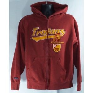 USC Trojans Vintage Full ZIP Sweatshirt Hoodie M